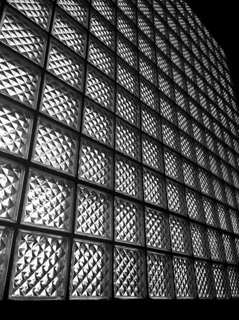 Glass Art Glass Objects  Glass Block Architecture Backgrounds Day Glass Glass - Material Glass Block Wall Glass Blocks Glass Windows Indoors  Low Angle View No People Pattern Seamless Pattern