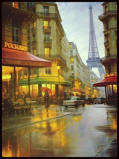 Paris ❤ Paris Photo Cafe Jour De Pluie