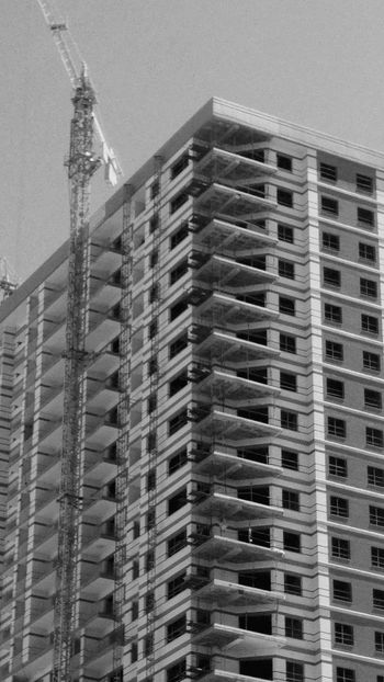 Building Exterior Architecture Construction Site Construction Work No People Built Structure Residential Project Blackandwhite