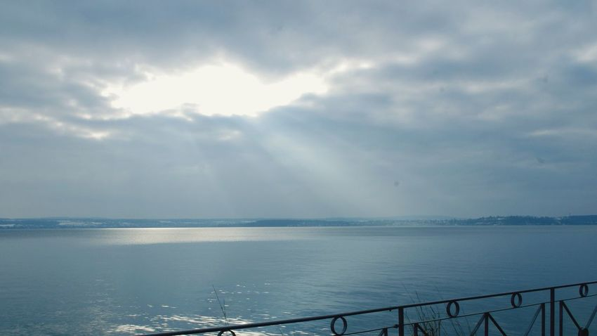 Sea Sky Water Scenics Tranquility Beauty In Nature Nature Tranquil Scene Horizon Over Water Outdoors Cloud - Sky No People Day Sunbeams Lake Constance Bodensee