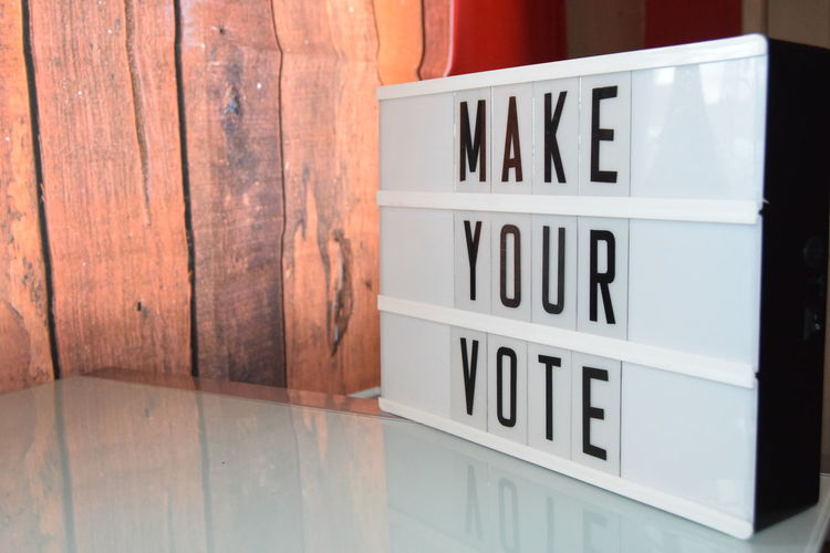Close-up Communication Day Food Indoors  Magazine Make Your Vote Message Board No People Text Trend