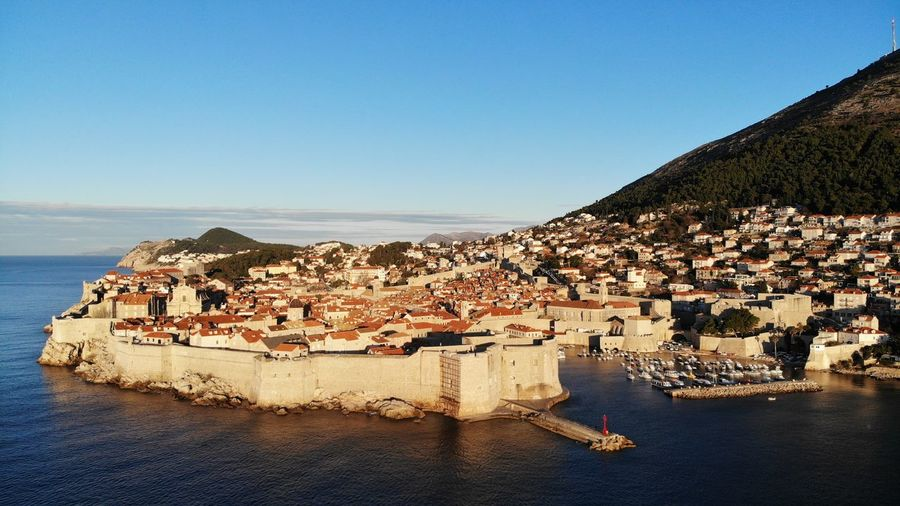 Croatia Dubrovnik Rooftop House Old Town Drone View Urban Europe Built Structure Building Exterior Architecture Heritage Adriatic Sea Tower Town Crowded Travel Travel Destinations Travel Photography Seascape Ocean Beautiful Place Medieval Mediterranean  Residential District