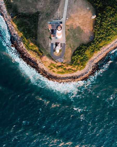 A Bird's Eye View looking down on the montauk point lighthouse Flying High The Great Outdoors - 2017 EyeEm Awards