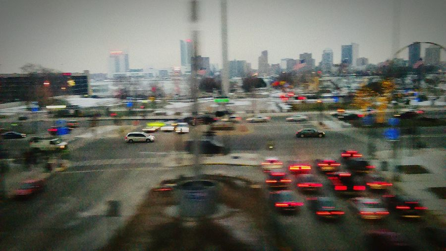 Smartphonephotography PhonePhotography Taking Photos From A Moving Vehicle Taking Photos On The People Mover Downtown Detroit Hart Plaza Detroit River Windsor Ontario Moving Car Frozen River Frozen Water Downtown Windsor Canada Border ,
