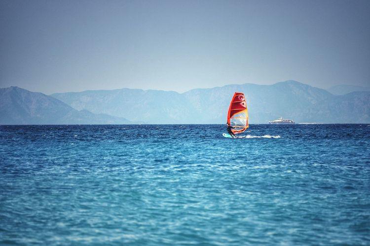 Windsurfing on