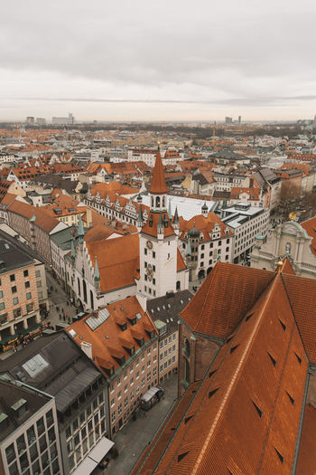 Munich City Germany Sky View Panorama Building Exterior Architecture Built Structure Nature