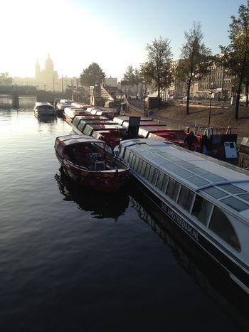 Good morning Hello World Amsterdam Boat Startoftheday