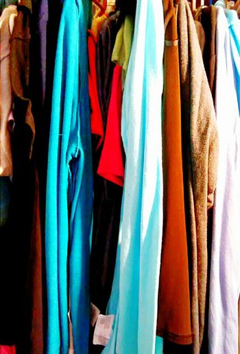 Everything In Its Place Closet Hanging Clothing Various Colors Closet Fasion Closet Colors