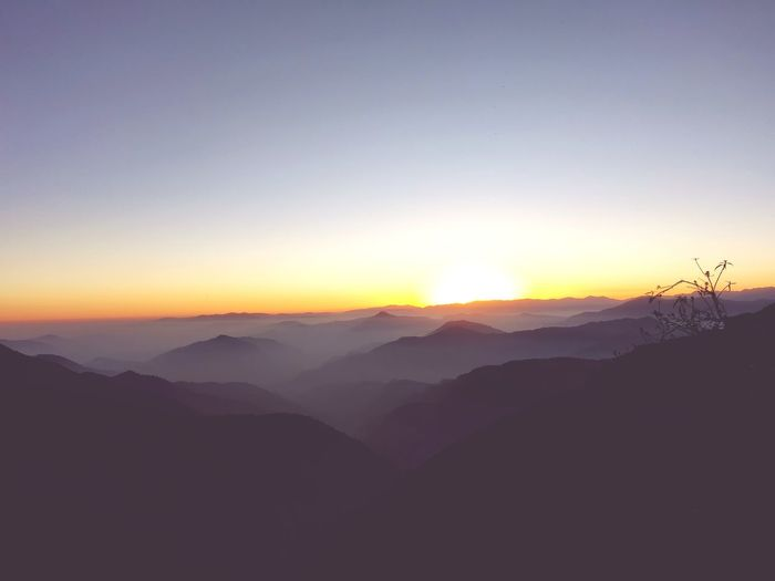 Sunset Sunset East Sikkim Humid Mountains Sky And Clouds Sunset Sunset Photography Themes Cold Temperature Fog Silhouette Winter Sky Landscape Skate Photography: Same Tricks, New Perspectives