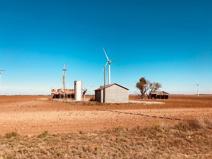 Old house at wind farm