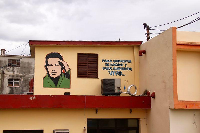 Been There. Cuba Cuba Collection Havana Havanna, Cuba Latin America Politics Revolution Revolutionary Venezuela Architecture Art Building Exterior Communication History Human Representation No People Outdoors Street Art Streetart Text Ugo Ugo Chavez This Is Latin America