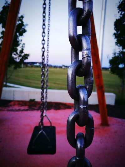 Reminiscing my childhood memories ❤ Playground Swing Outdoors Close-up Chain