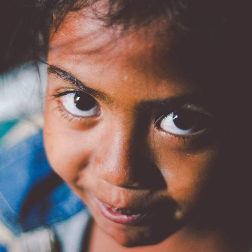 """""""Seeing a simple smile on an innocent face can fill me with joy"""" Portrait Mauritian Mauritius People Face Close-up Children Innocence Life Girl Love Joy Smile Happiness Streetphotography Photography"""