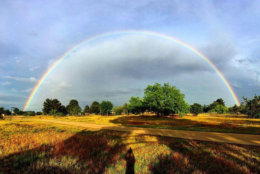 Rainbow Rainbow Rainbow Sky West Texas West Texas Skies Texas Texas Skies Midland, TX Clouds Parks