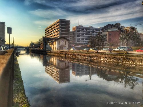 Naviglio Winter Tadaa Community IPhone IPhoneography HDR Italy Milano Reflection Architecture Building Exterior Built Structure Water Cloud - Sky Sky City Outdoors