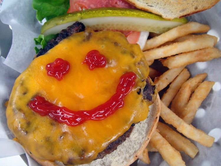 Food And Drink Food Ready-to-eat Plate Temptation Indulgence No People Food And Drink Food Food Photography CheeseBurger Smile Smiley Smiley Face Basket French Fries Fries Pickle Ketchup Ketchup Smile Burger Fast Food Grilled Grilled Meat Visual Feast