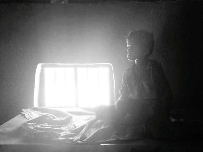 Rural Scene Village Window Boy Sitting Sitting Alone EyeEm Selects Pixelated Close-up