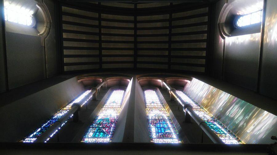 Stained Glass Window Churchinterior Shotfrombelow Knightsbridge London Church Buildings Monsterface Faceofamonster
