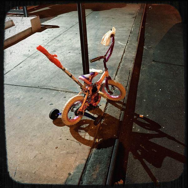 Bike Lock NYC Street Photography NYC Streetphotography Mattroedotcom Mattroeartist Nightphotography IPhoneography