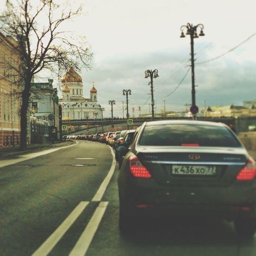 Москва осень пробки перспектива