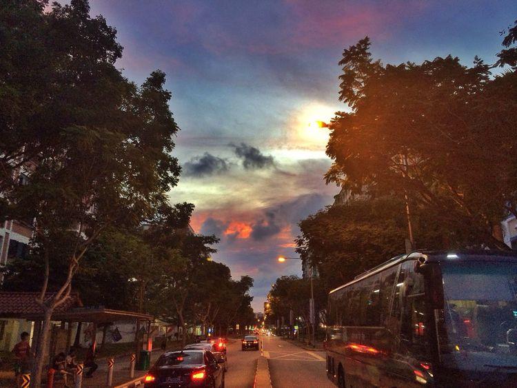 Sunset Streetphotography Sunset #sun #clouds #skylovers #sky #nature #beautifulinnature #naturalbeauty #photography #landscape Clouds And Sky