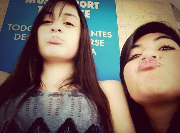 Bestfriend && i... Love her even tho shes a painib the butt (: <3'!