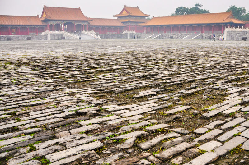 Exterior Of Forbidden City During Foggy Weather