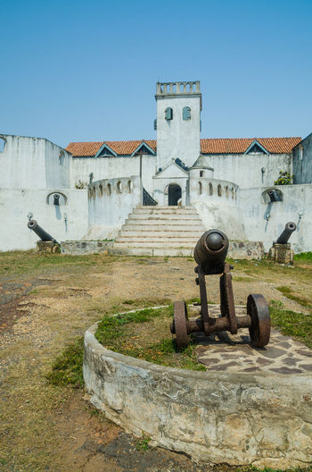 Cannon Cannons Protection Defense Wall Elmina Ghana African Africa Colonial Castle Fort Architecture Historic Historical Building