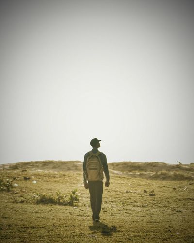 Journey Journey Alone... Full Length Human Back Men Back Rear View Sand Dune First Eyeem Photo EyeEmNewHere