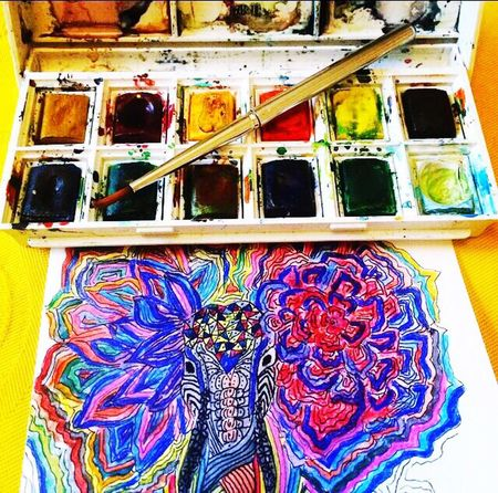 ArtWork Art, Drawing, Creativity Colorful On My Bed Chillin Out At Home on Sunday Thats Me :) ArtInMyLife Important