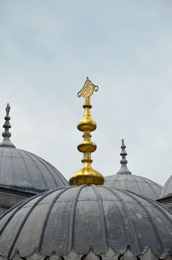 Low angle view of domes at yeni cami mosque