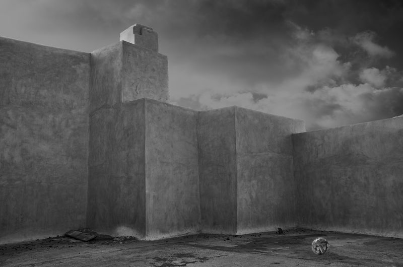 Architecture Building Exterior Built Structure Cloud - Sky Concrete Day Nature No People Outdoors Overcast Sky The Past Travel Travel Destinations Exterior Concrete Wall Building Block Shape Cement