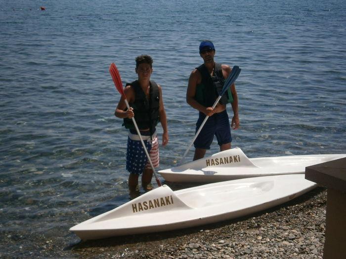 Adventure Day Hasanaki Beach Kayak Leisure Activity Nautical Vessel Outdoors Teamwork Togetherness