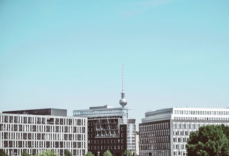 - A = ARCHITECTURE - The Architect - 2018 EyeEm Awards Check This Out! Modern Architecture Architecture Berlin Photography Architecture Architecture Built Structure Building Exterior Sky Tower Building Copy Space Tall - High Clear Sky Communication City No People Day Low Angle View Travel Travel Destinations Office Building Exterior