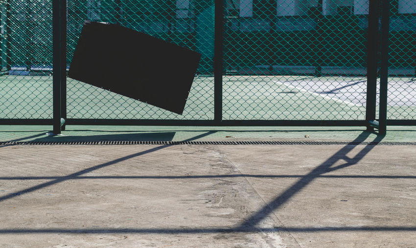 Sport Shadow Sunlight Day Fence Baseball - Sport Nature Chainlink Fence No People Outdoors Court Barrier Playing Field Boundary Absence Basketball - Sport Metal Sports Equipment Empty Sunny