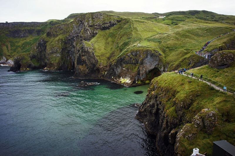 Colour Of Life Carrick-a-rede Ireland Coastline Atlantic Ocean Bay Green Shore