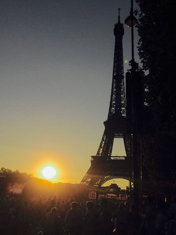 Here Belongs To Me thousands and thousands people waiting to the sun to disappear to watch the July 14th Firework at the Eiffel Tower ! 14 Juillet 2015 Bastille Day my friends , my neighbors, my people, French people , not afraid ..