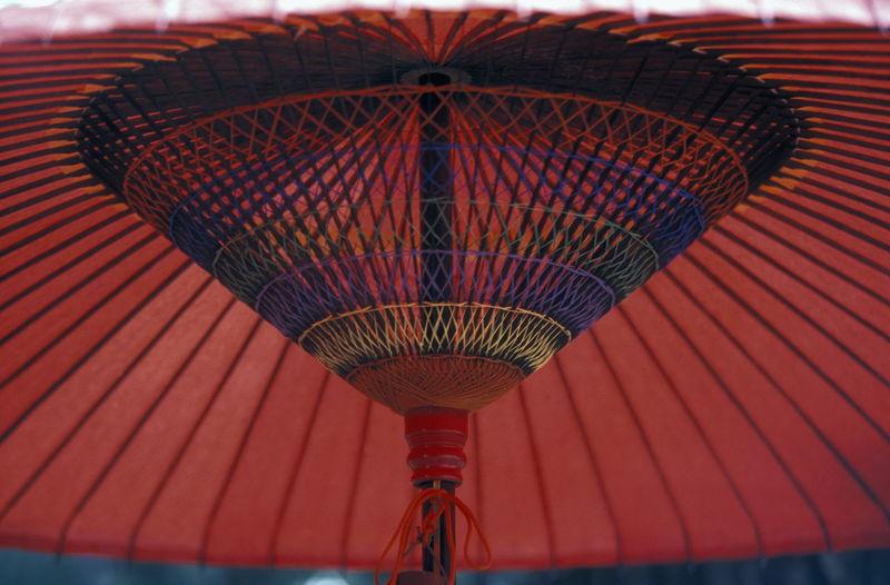 Close-up of paper umbrella