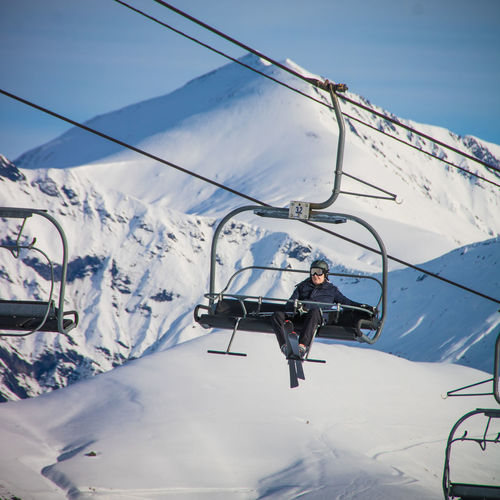 Snowcapped Mountain Snow ❄ Skiing Wintertime Winter Sport Winter White Alps French Alps Holidays Beauty In Nature Mountain Chairlift Mode Of Transportation Transportation Real People Cold Temperature Snow Men Leisure Activity Travel People Day Land Vehicle Lifestyles Nature White Color Sky Mountain Range Outdoors Ski-wear
