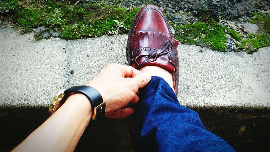 Ballyshoesco Shoe Manshoes Personal Perspective Low Section Human Leg EyEmNewHere Outdoors