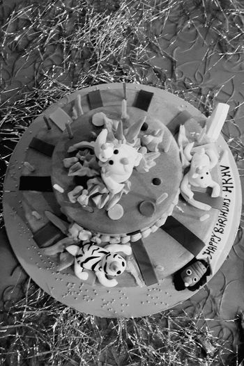Designer cake in old era Cake Designer  Designercake Kidslove Blackandwhite Classic Newstuffinoldway Different Effect Eggless Healthycake Foodlove Cakelover Cartoons