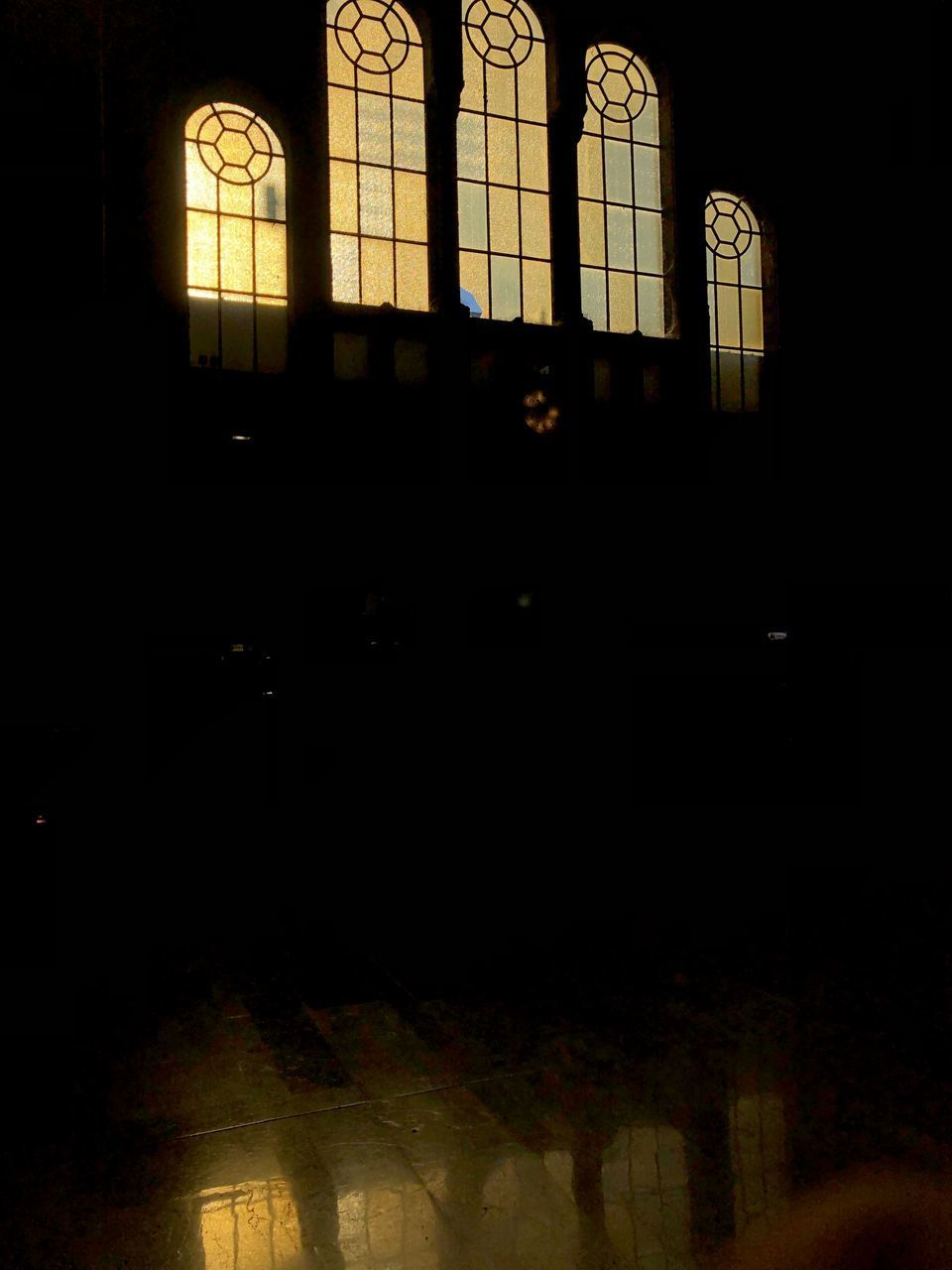 built structure, window, dark, architecture, night, indoors, no people, silhouette, building, illuminated, nature, shadow, glass, spirituality, religion, pattern, place of worship