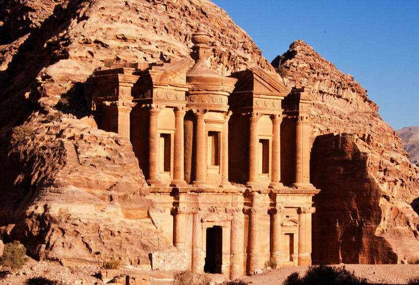 Ancient Ancient Civilization Archaeology Architectural Column Architecture Built Structure History Jordan Middle East Mountain Old Ruin Outdoors Petra Jordan Rock The Theater Tourism Travel Travel Destinations