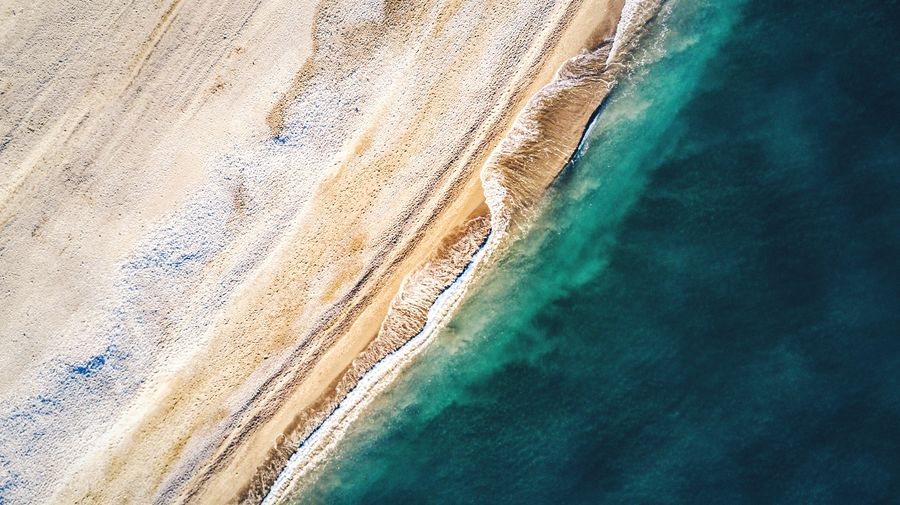Coastline Blue Sea Aerial View Flying High Ocean View Coastline Granada Salobreña Tranquility Waves Waves, Ocean, Nature Symmetry Nature No People Outdoors Scenics Beach Ocean Sea Andalucía SPAIN DJI Mavic Pro Seascape Beach Photography Dji