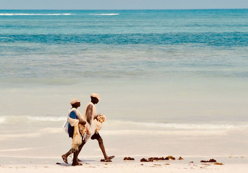 Fishermen AFRICAN CULTURE African Indian Ocean Beach Fishermen Sand Sea Togetherness Walking Water's Edge