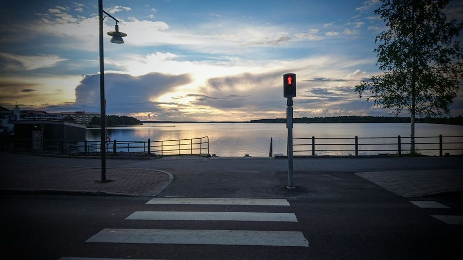 Luleå this summer, my birth-town Summertime Sweden Lappland Everyday Joy Everything In Its Place Evening Sky Sea Streetlights Northern Europe Northern Sweden Sony Xperia