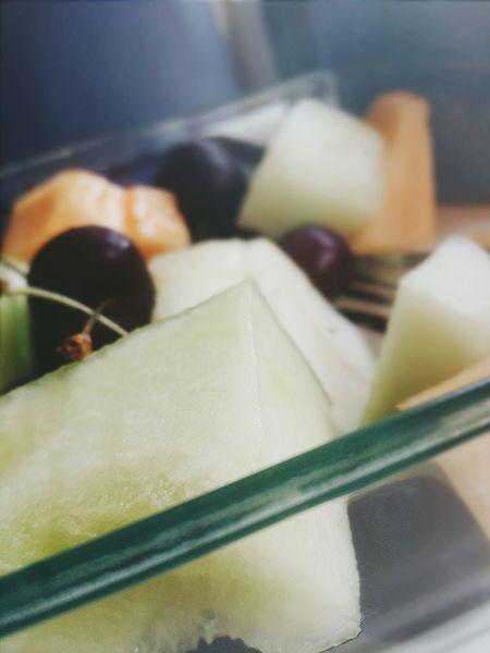 Fruit Rockmelon Honeydew Fresh Enjoying Life Relaxing Delicious Cherries