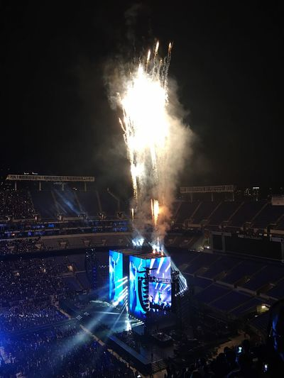 🐝🐝🐝 Beyonce FormationWorldTour Flame Night Motion Burning Arts Culture And Entertainment Celebration Sparks Illuminated Glowing Spark Firework - Man Made Object