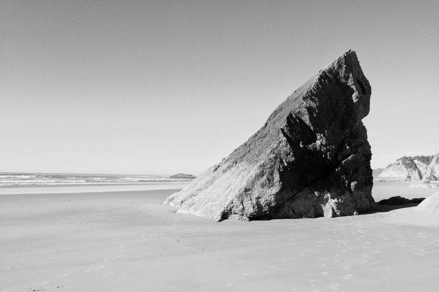 Black And White Monochrome Pacific Ocean Canon Beach Oregon Coast