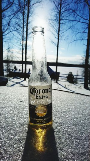 Mexican beer in Finnland 🇫🇮Finnland Inbtree Cold Temperature No People Sky Text Outdoors Nature Water Day Close-up Finnland Young Women